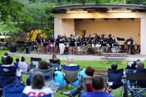 OHS Bands preform at the Frist Summer Swing of the season